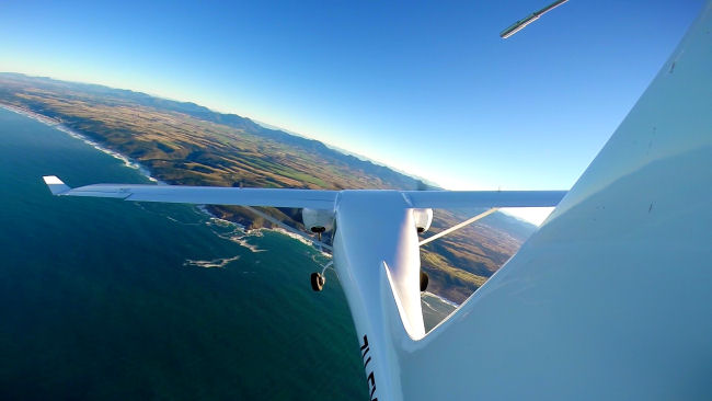 Jabiru J432 Flying over the Sea SA Garden Route